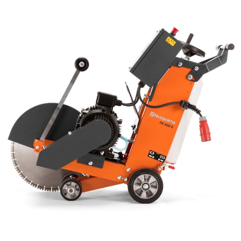 FS500E Floor Saw Side 1 Huaqvarna FS500E Floor Saw 500mm | EC Hopkins Limited