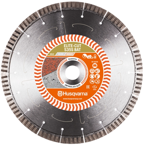 Husqvarna Elite Cut S35 S Bat Diamond Disc Husqvarna Diamond 230mm Elite S35 Bat Disc for K535i Battery Saw | EC Hopkins Limited