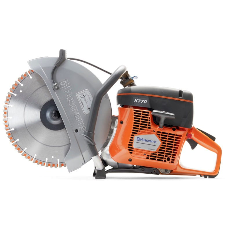 K770 side scaled Husqvarna K770 Oil Guard Saw Petrol Disc Cutter | EC Hopkins Limited