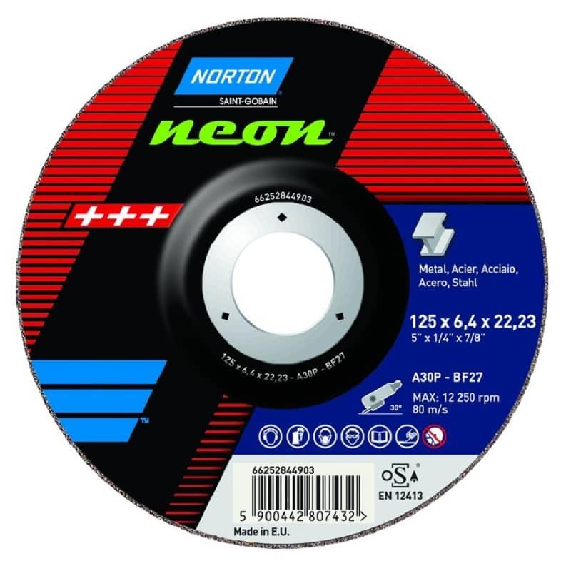 Norton Neon Inox Grinding Discs