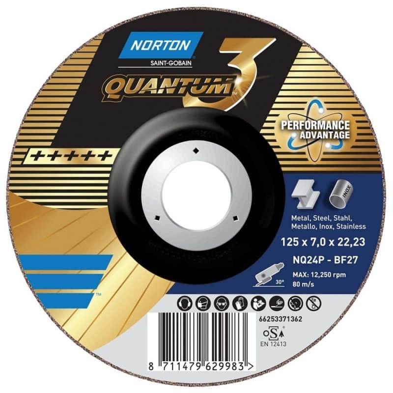 Norton Quantum 3 Ceramic Grinding Discs