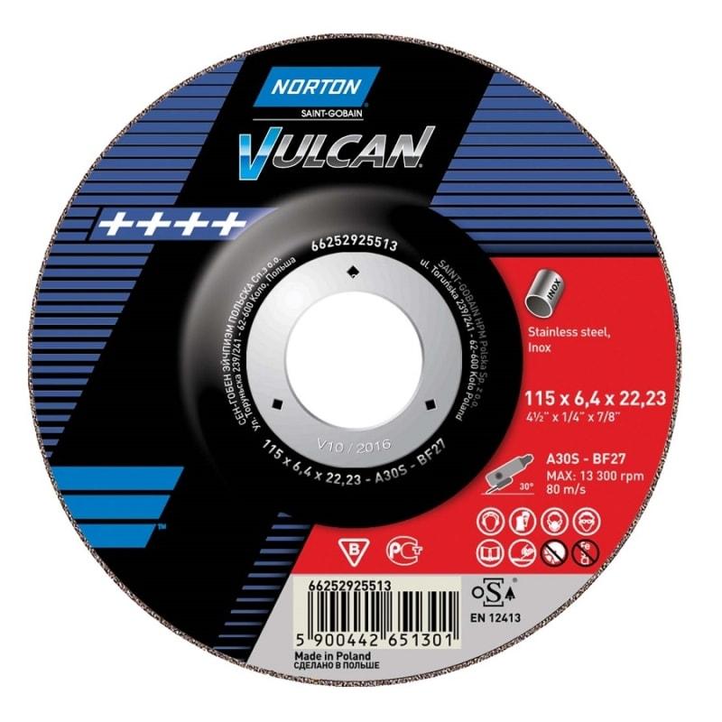 Norton Vulcan Inox Grinding Discs