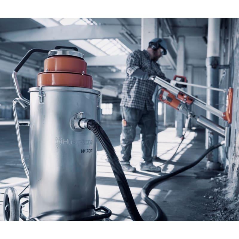 W70P drill wet vac Husqvarna W70P Wet and Slurry Vacuum | EC Hopkins Limited