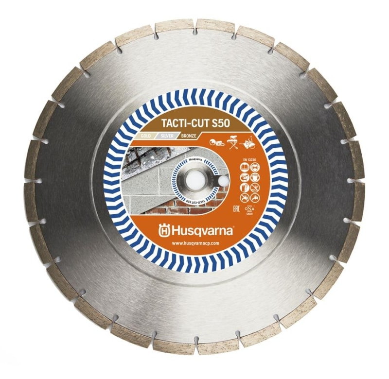 Husqvarna Tacti Cut S50 Diamond Disc Husqvarna Diamond Disc Tacti-Cut S50 | EC Hopkins Limited