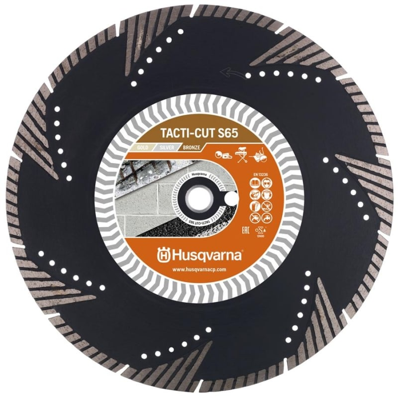 Husqvarna Tacti Cut S65 Diamond Disc Husqvarna Diamond Disc Tacti-Cut S65 | EC Hopkins Limited