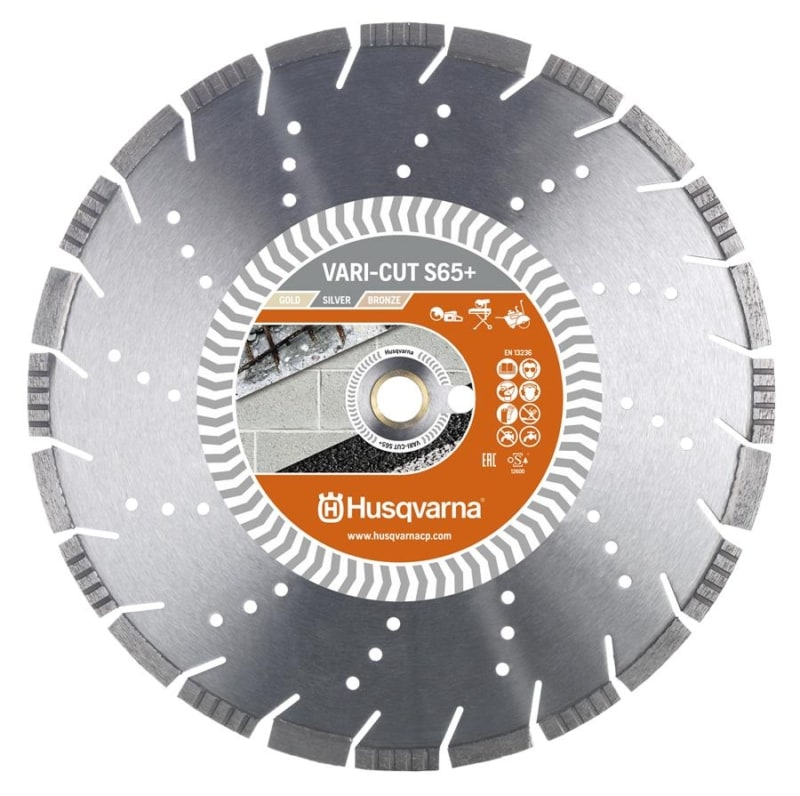 Husqvarna Vari Cut S65 Diamond Disc Husqvarna Diamond Disc Vari-Cut S65+ | EC Hopkins Limited