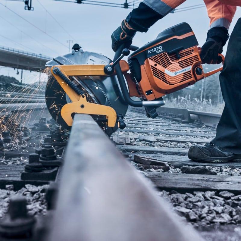 K1270 Rail action Husqvarna K1270 Rail Saw | EC Hopkins Limited