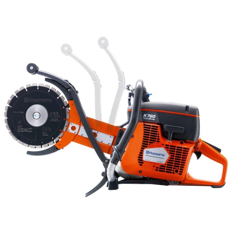 K760 Cut n Break side Husqvarna K760 Cut-n-Break Petrol Saw | EC Hopkins Limited