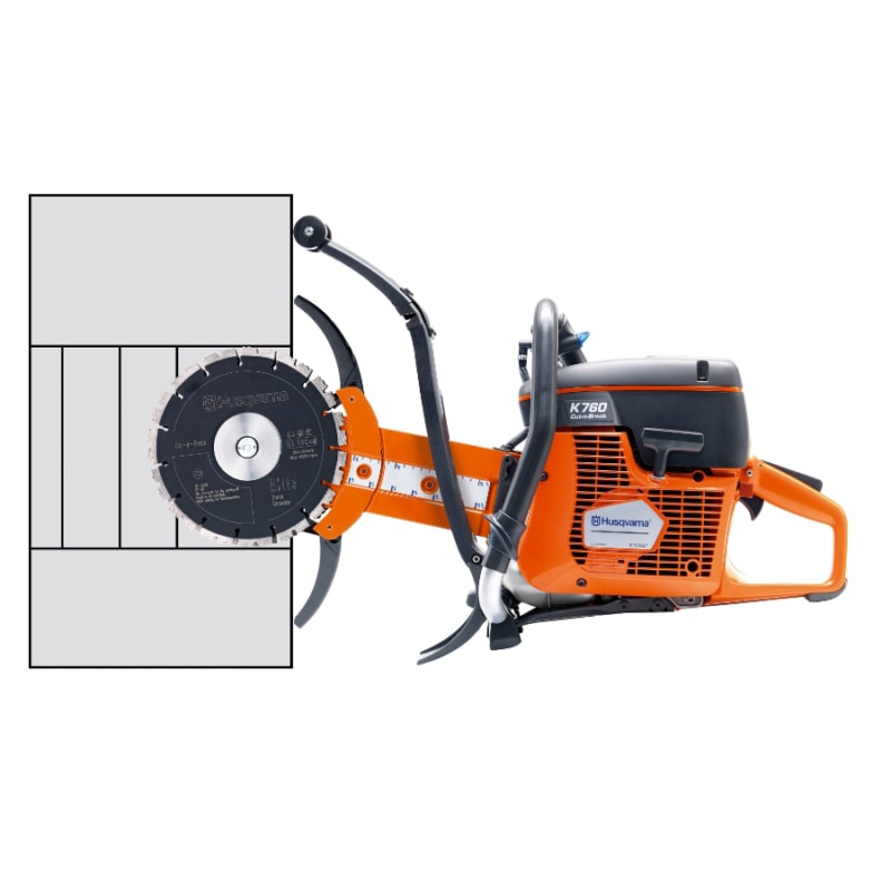 K760 Cut n Break wall Husqvarna K760 Cut-n-Break Petrol Saw | EC Hopkins Limited