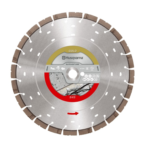 Elite Exo Grit S45 Husqvarna Diamond Disc Elite Cut S45 Exo Grit | EC Hopkins Limited