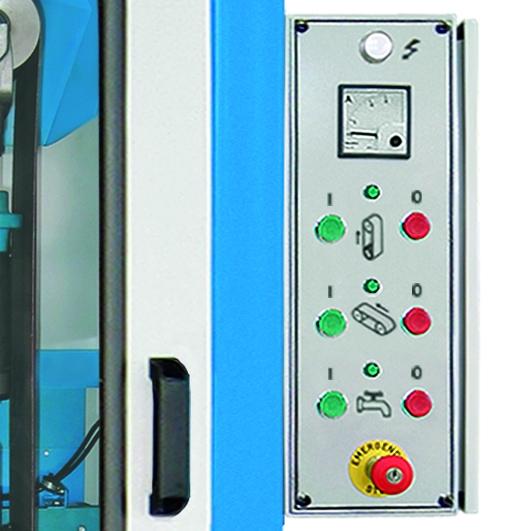 Aceti Art 76 Controls Aceti Art 76 Abrasive Through-feed Machine   EC Hopkins Limited