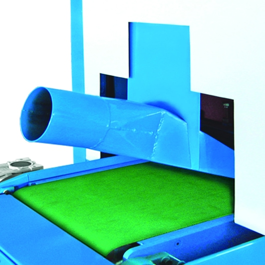 Aceti Art 76 Extraction point Aceti Art 76 Abrasive Through-feed Machine   EC Hopkins Limited