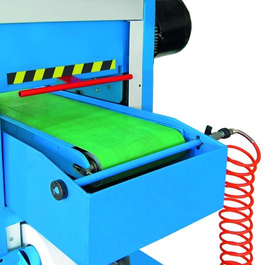 Aceti Art 76 Hand protection E Stop Aceti Art 76 Abrasive Through-feed Machine   EC Hopkins Limited