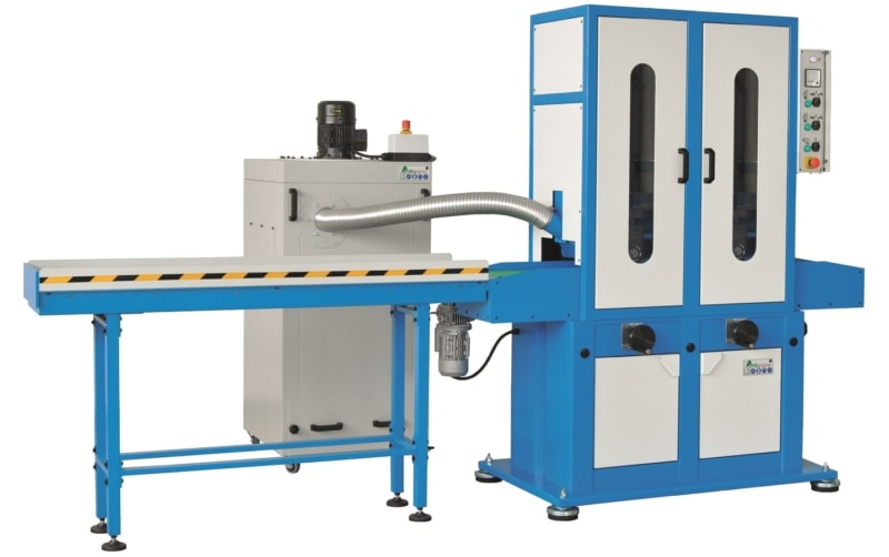 Aceti Art 97 2 with Ext Conv Aceti Art 97 Abrasive Through-feed Machine   EC Hopkins Limited