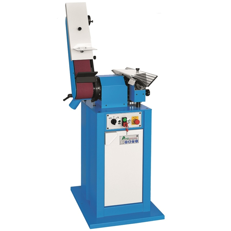 The Aceti Art 02 edge chamfering and belt grinding machine