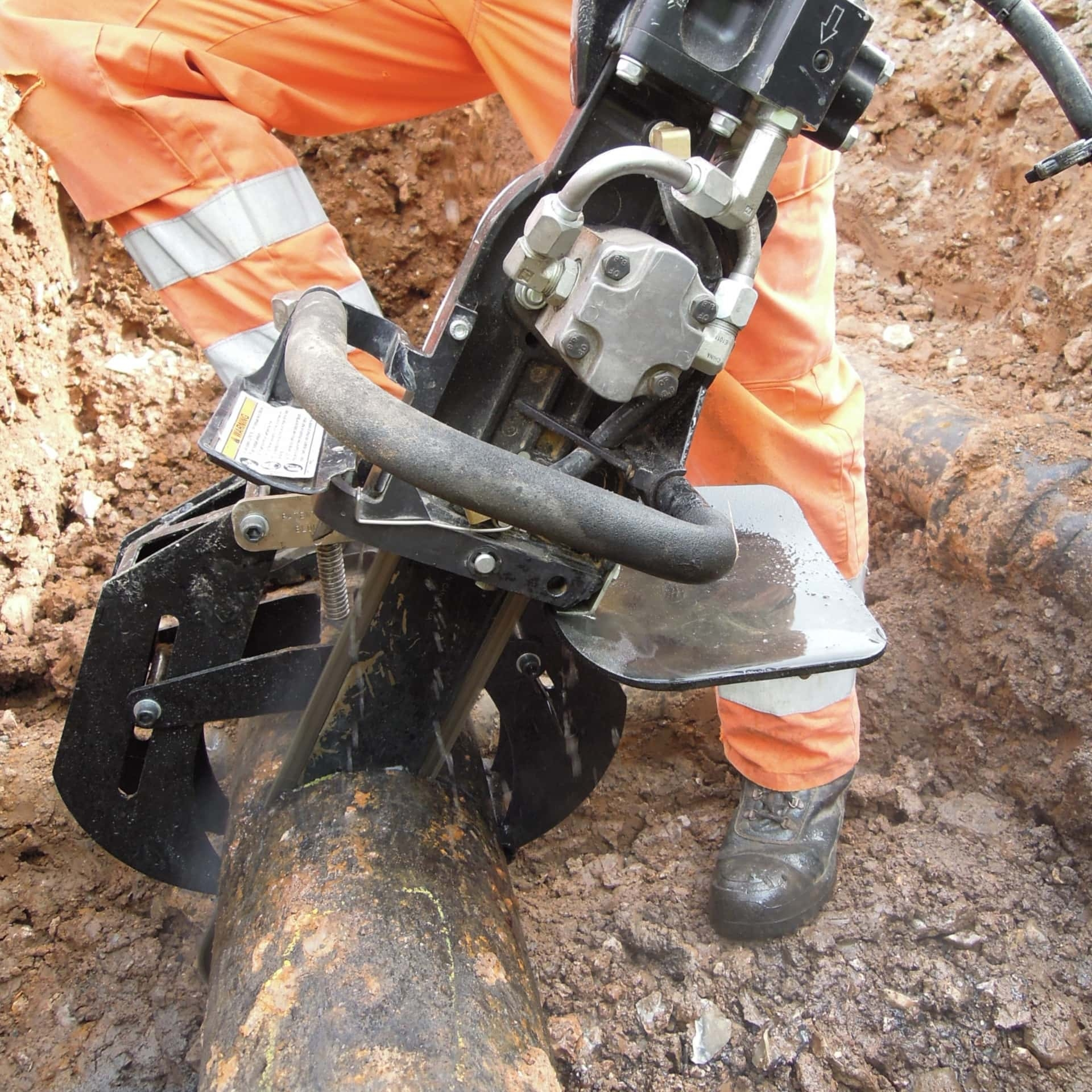 PowerGrit in Use in Trench